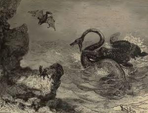 VERNE_1864_Voyage_au_centre_terre_Plesiosaurus