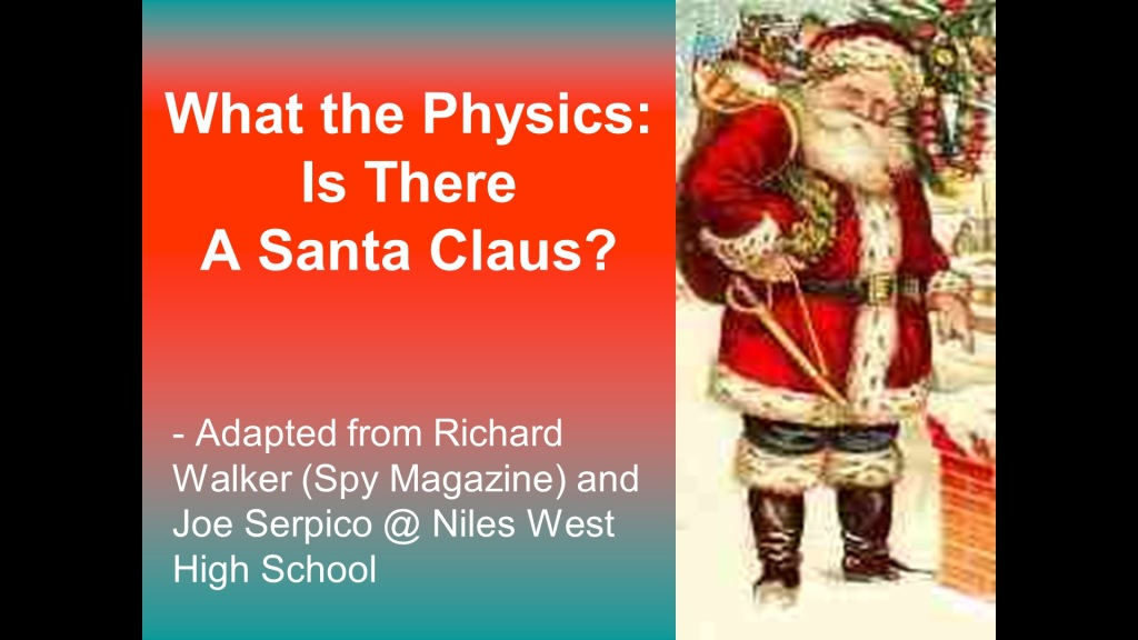 Physics of Santa